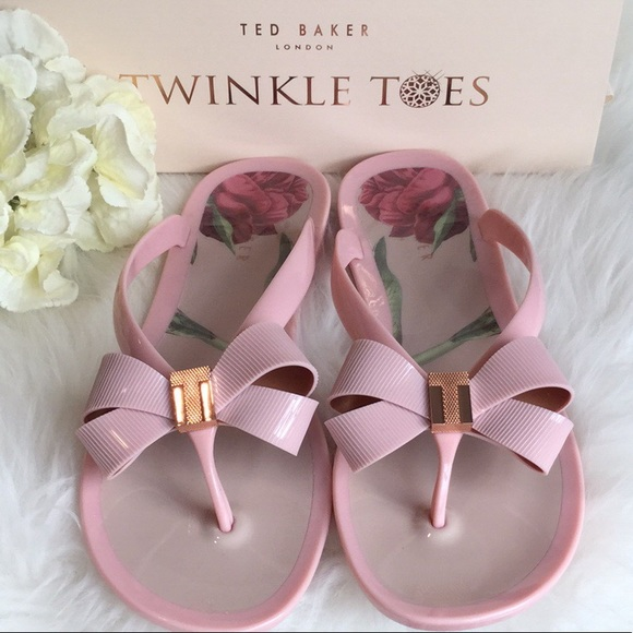 3b2668313697 Ted Baker Susziep Pink Rose Jelly Sandals NWT